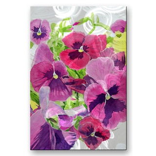 Cindy Gilbane 'Pansie' Metal Wall Art