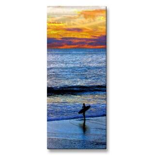 Jerome Stumphauzer 'Sunset Surfing' Metal Wall Hanging