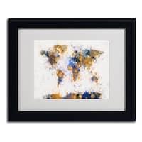 Michael Tompsett 'Paint Splashes World Map 2' Framed Matted Art