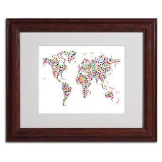 Michael Tompsett 'Stars World Map' Framed Matted Art