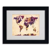 Michael Tompsett 'Watercolor Map 2' Framed Matted Art