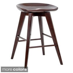 24-inch Bali Backless Swivel Counter Stool