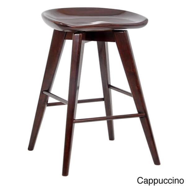 24 Inch Bali Backless Swivel Counter Stool Free Shipping
