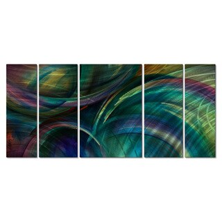 Michael Lang 'Swipes of Color' 5-piece Metal Wall Sculpture