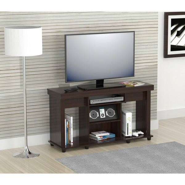 inval 50 inch flat panel tv stand free shipping today 15494979. Black Bedroom Furniture Sets. Home Design Ideas