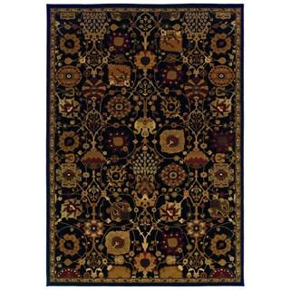 Traditional Black/ Multi Area Rug (6'7 x 9'6)