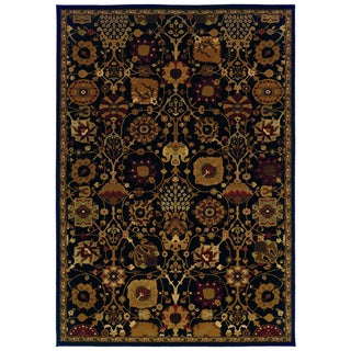 Traditional Black/ Multi Area Rug (9'10 x 12'10)
