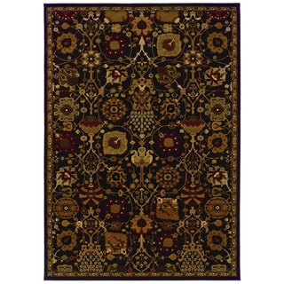 Traditional Brown/ Multi Area Rug (6'7 x 9'6)