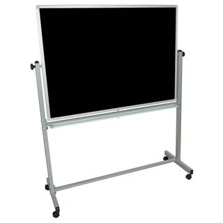"""Offex Mobile Double Sided Magnetic Reversible Whiteboard/ Chalkboard (48""""x36"""")"""