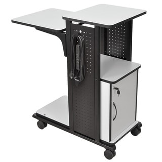 H.Wilson Grey/Black Mobile Presentation Station