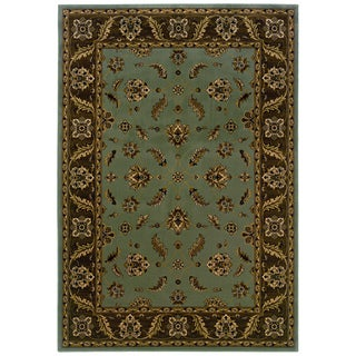 Traditional Blue/ Brown Area Rug (5'3 x 7'6)