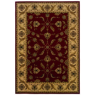 Traditional Red/ Ivory Area Rug (7'10 x 10'10)