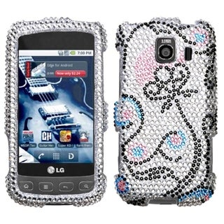 INSTEN Flower Diamante Phone Case Cover for LG LS670 Optimus S/ Optimus U/ VM670