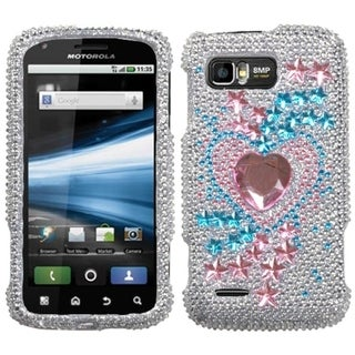 INSTEN Star Track Diamante Phone Case Cover for Motorola MB865 Atrix 2