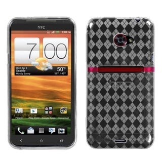 INSTEN T-Clear Argyle Pane Candy Skin Phone Case Cover for HTC EVO 4G LTE