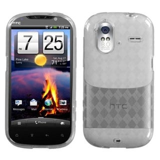 INSTEN T-Clear Argyle Pane Candy Skin Phone Case Cover for HTC Amaze 4G