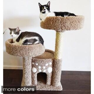 New Cat Condos Double Perch Solid Wood Cat Condo