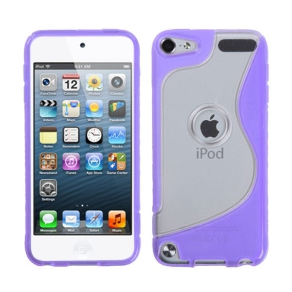 INSTEN Transparent Clear/ Purple S-shape iPod Case Cover for Apple iPod Touch 4