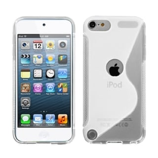 INSTEN Transparent Clear TPU Rubber Candy S-shape iPod Case for Apple iPod Touch 5th/ 6th Gen