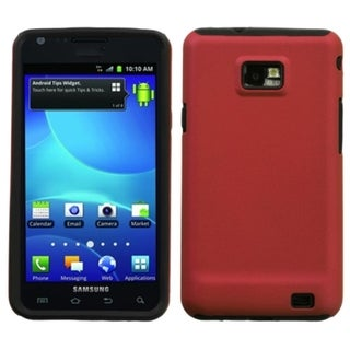 INSTEN Titanium Red Fusion Phone Case Cover for Samsung I777 Galaxy S II