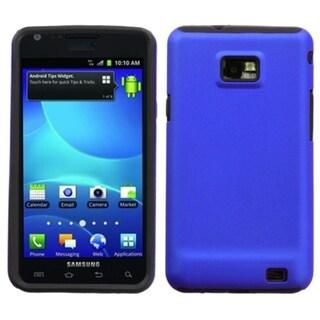 INSTEN Titanium Dark Blue Fusion Phone Case Cover for Samsung I777 Galaxy S II