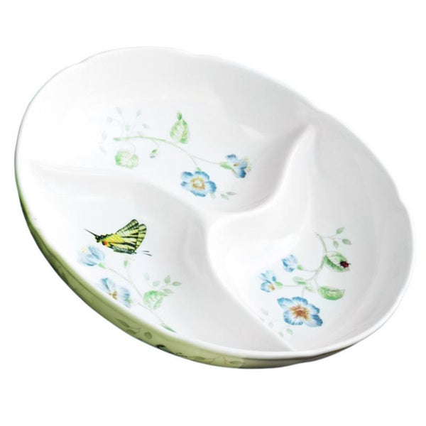Shop Lenox Butterfly Meadow Divided Serving Dish Free