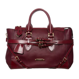Burberry Large Bridle Leather Gladstone Travel Bag