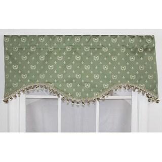 RLF Home Bee De Lis Cornice Window Valance - Green