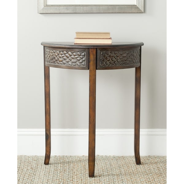 Overstock Foyer Furniture : Shop safavieh earl dark brown console table free
