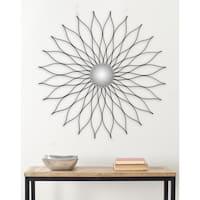 Safavieh Marigold Flower Petals Black 36-inch Mirror
