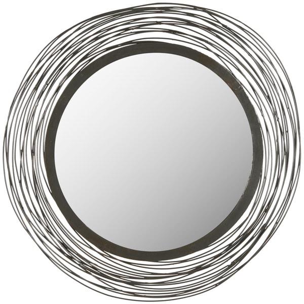 """Safavieh Wired Industrial 21-inch Round Decorative Mirror - 21"""" x 0.8"""" x 21"""""""