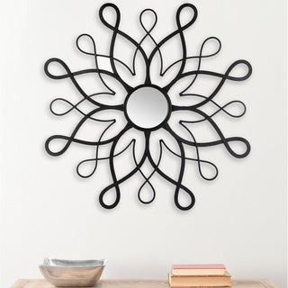 Safavieh Daisy Flower Swirl Black 30-inch Mirror