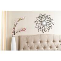 Safavieh Chrysanthemum Flower Black 24-inch Mirror
