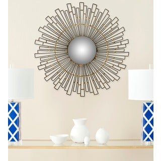 Safavieh Concave Natural 20-inch Sunburst Mirror