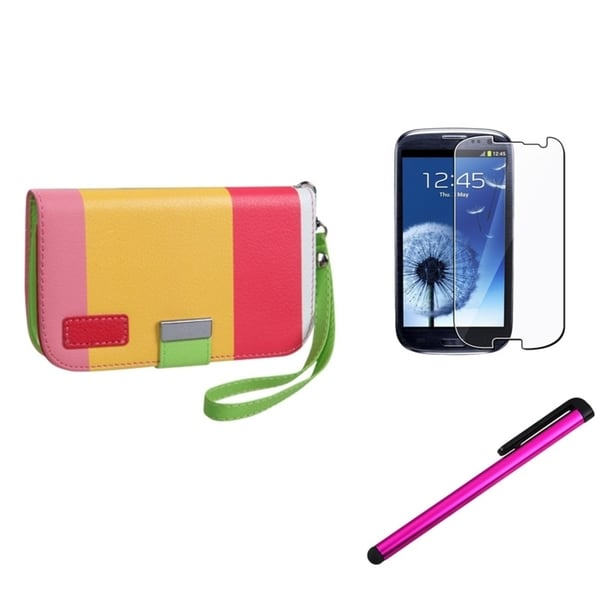 INSTEN Phone Case Cover/ Screen Protector/ Stylus for Samsung Galaxy SIII/ S3