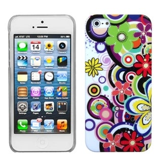 INSTEN Colorful Flowers Phone Back Protector Phone Case for Apple iPhone 5/ 5S/ SE