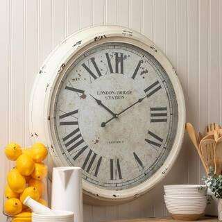 Francesco Oversized 24 5 Metal White Wall Clock