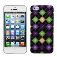 INSTEN Colorful Rhombic Plaid Phone Protector Phone Case for Apple iPhone 5/ 5S/ SE