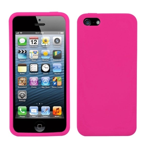 BasAcc Hot Pink Solid Skin Case for Apple iPhone 5