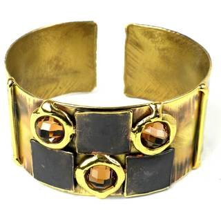 Handcrafted Showplace Topaz Brass Cuff (South Africa)