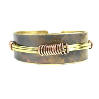 Wrapped Wire Copper and Brass Cuff (South Africa)