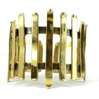 Handmade Fence Brass Cuff (South Africa)