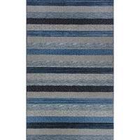 Eternity Striped Blue Rug (2' x 3'11)