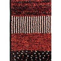 Eternity Striped Multi-colored Rug - 2' x 3'11