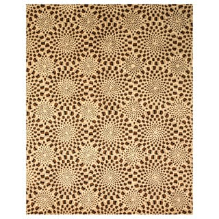 Hand-tufted Wool Brown Contemporary Abstract Modern Animal Skin Rug (7'9 x 9'9)