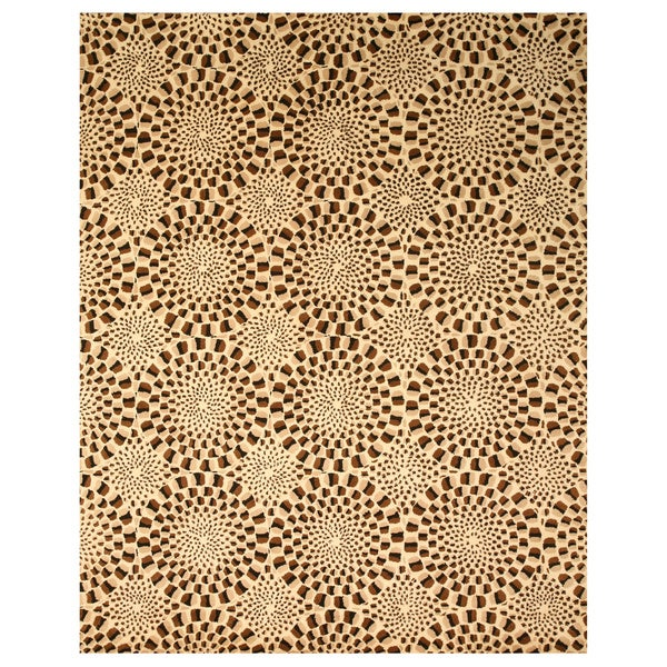 Hand-tufted Wool Brown Contemporary Abstract Modern Animal Skin Rug - 7'9 x 9'9