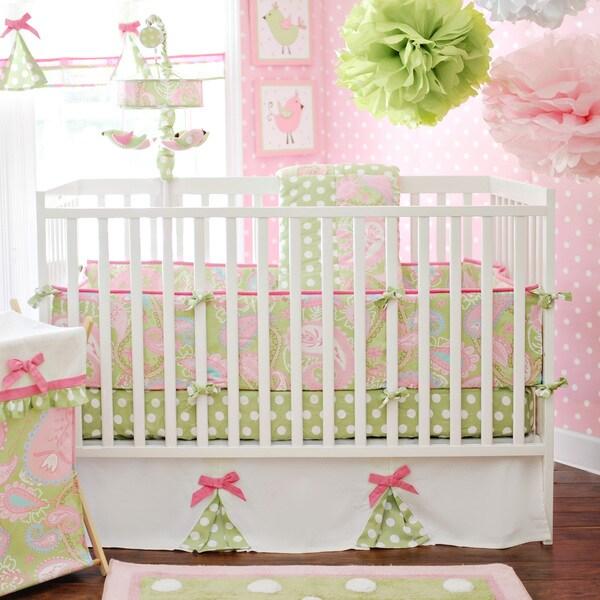 My Baby Sam Pixie Baby Pink 3-piece Crib Bedding Set