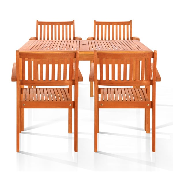 Brainerd 5-piece Oil Rubbed Outdoor Dining Set