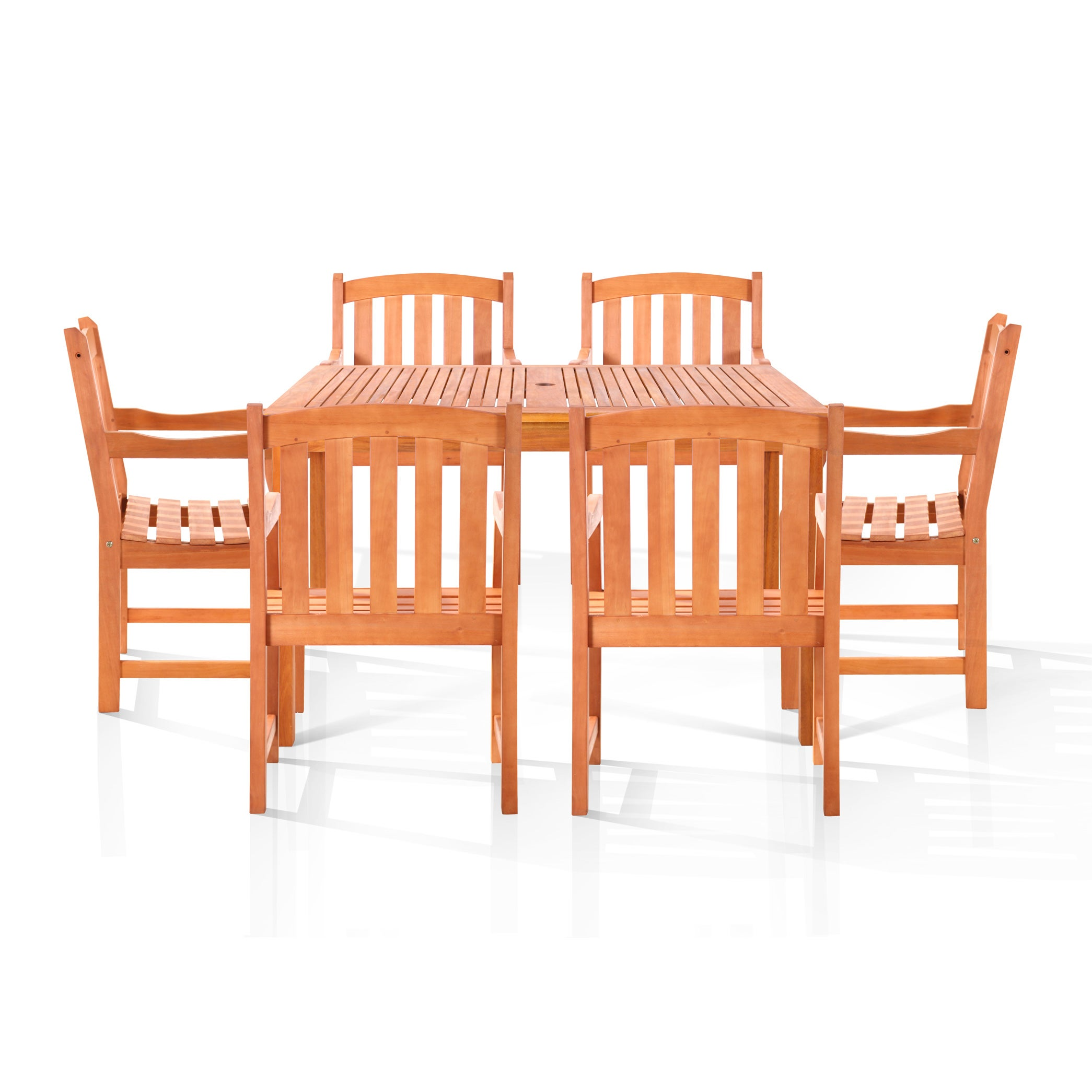 Vifah Chadwick 7-piece Oil Rubbed Outdoor Dining Set (Nat...