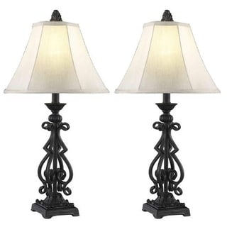 Somette 1-light Black Table Lamps (Set of 2)